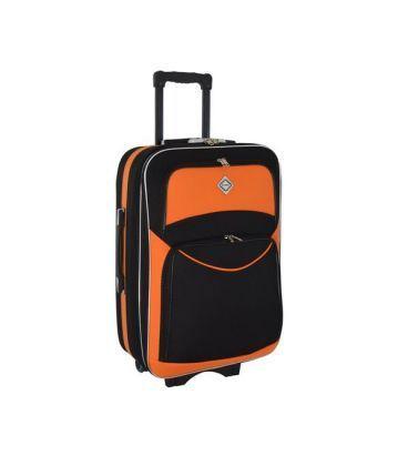 Валіза Bonro Style Midi чорно-помаранчева картинка, зображення