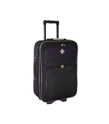 Валіза Bonro Style Midi чорно-т.фіолетова картинка, зображення