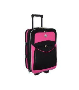 Чемодан Bonro Style Midi черно-розовый