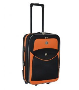 Чемодан Bonro Best Midi черно-оранжевый
