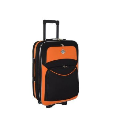 Чемодан Bonro Style Maxi черно-оранжевый картинка, изображение