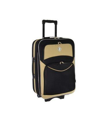 Чемодан Bonro Style Maxi черно-бежевый картинка, изображение