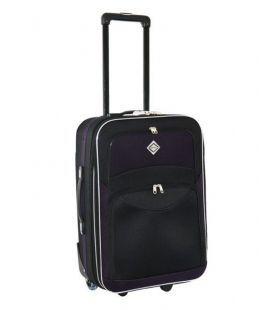 Чемодан Bonro Best Maxi черно-т.фиолетовый