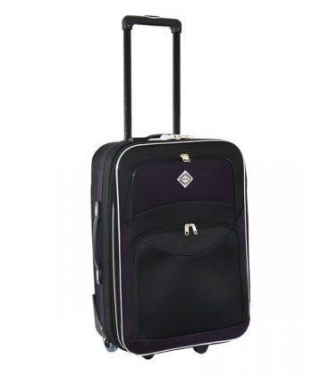 Чемодан Bonro Best Maxi черно-т.фиолетовый картинка