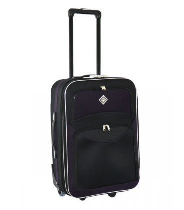 Валіза Bonro Best Maxi чорно-т.фіолетова картинка, зображення