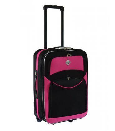 Валіза Bonro Best Maxi чорно-рожева картинка, зображення, фото