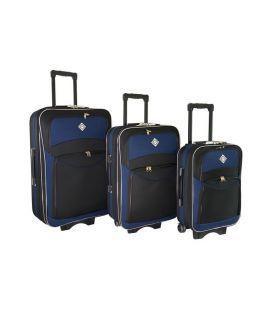 Набір Валіз Bonro Style чорно-т.синій