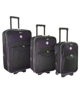 Набор Чемоданов Bonro Style черно-т.фиолетовый