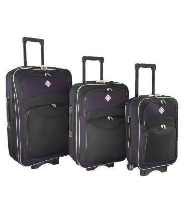 Набор Чемоданов Bonro Style черно-т.фиолетовый картинка, изображение, фото