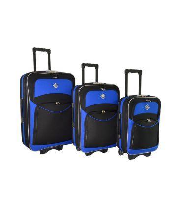 Набор Чемоданов Bonro Style черно-синий картинка, изображение