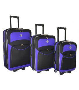 Набор Чемоданов Bonro Style черно-фиолетовый