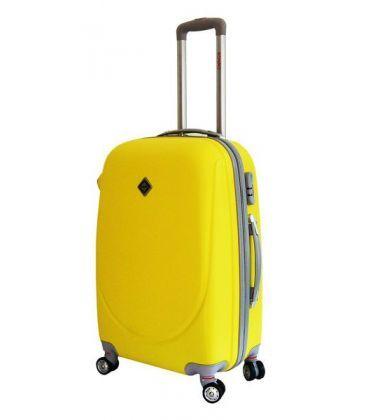 Валіза Bonro Smile double wheels Mini жовта картинка, зображення, фото