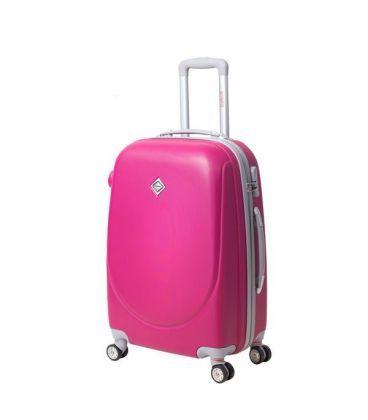 Валіза Bonro Smile double wheels Midi рожева картинка, зображення, фото